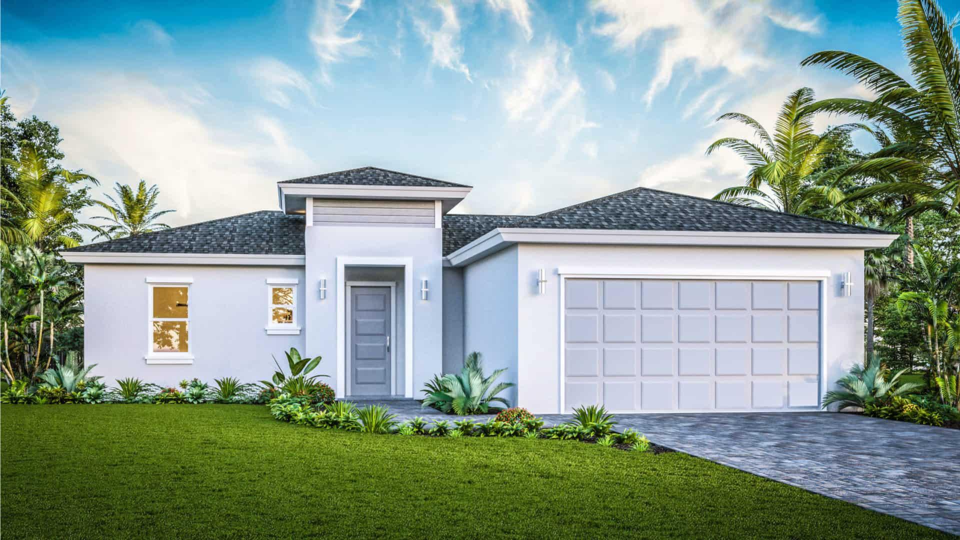 White and Grey House - Kaye Lifestyle Homes